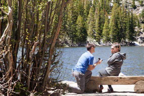 Romantic Proposal at Bear Lake {Estes Park, CO}